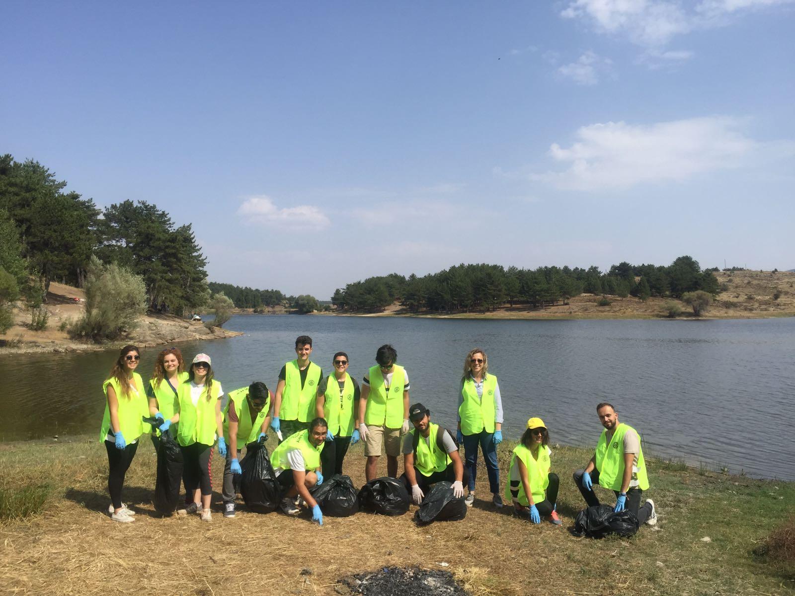 Ankara Güdül Sorgun Göletinde çevre temizliği yapıldı