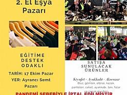 Geleneksel 2nci El Eşya Pazarı PANDEMİ SEBEBİYLE İPTAL EDİLMİŞTİR
